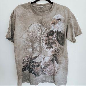 Wildlife Animal Full Moon Gray T-Shirt